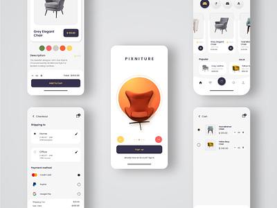 Furniture App UI design furniture design furniture app ecommerce app uiux uidesign ios app design app design android app design