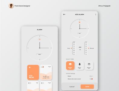 Alarm App UI Design | Neumorphism neumorphic design alarm app uidesign ios app design app design android app design
