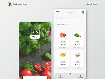 Online vegetables and fruits order App UI design shopping app vegetables app ui ui design app ui design