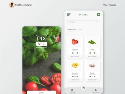 Online vegetables and fruits order App UI design shopping app vegetables app ui ui design app ui design
