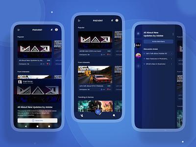 Online Events App UI Design mobile app ui design mobile app design ui design app ui design uidesign event app uiux mobile design ios app design app design android app design