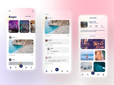Social Media App UI Design app ui profile design profile page social social ui feeds social media design socialmedia social media uiux ux ui minimal ui app ui design ui design uidesign ios app design app design android app design