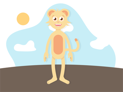 Cat artist illustrator animation vector minimal illustration flat design clean art