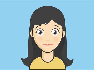 female avatar v2 avatar vector minimal illustrator illustration flat design clean artist art animation
