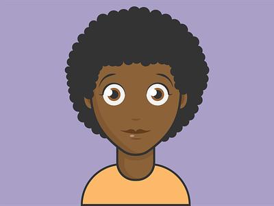 female avatar v4 avatardesign avatar graphicdesign dribbble artist animation vector minimal illustrator illustration flat design clean art