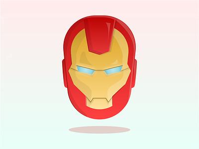 Iron Man marvelcomics artist animation dribbble minimal vector illustrator illustration flat design clean art gradients gradient