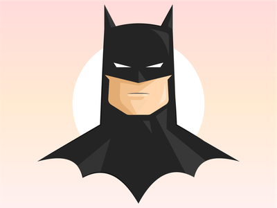 Batman animation dribbble dccomics dc comics batman artist vector illustrator illustration design clean art
