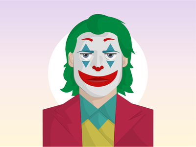 Joker vector minimal joker illustrator illustration flat dribbble design dccomics comic clean artist art animation