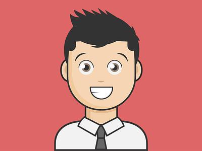 Male avatar dribbble artist avatar minimal animation flat vector illustrator illustration design clean art
