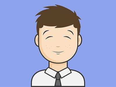 Male avatar v3 graphic icon logo dribbble avatar artist minimal animation flat vector illustrator illustration design clean art