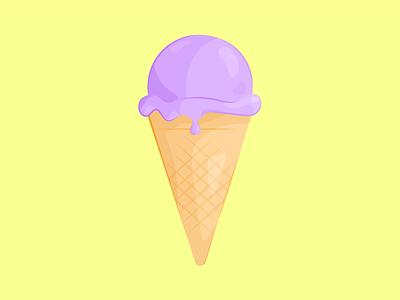 Blueberry ice cream minimal flat vector illustrator illustration design clean art blueberries blueberry ice cream icecream