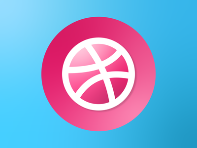 Dribbble logo logo dribbble minimal illustrator illustration flat art vector design clean