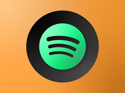 Spotify logo icon logo minimal illustrator illustration flat art vector spotify design clean