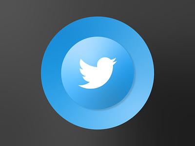 Twitter logo branding graphic icon logo twitter illustrator illustration flat art vector design clean