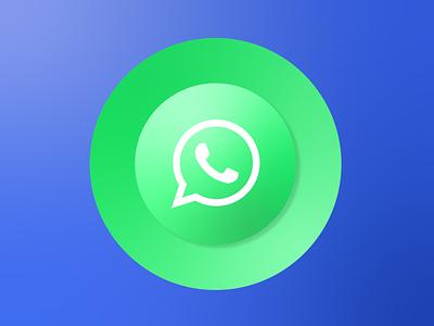 Whatsapp logo app ui icon whatsapp minimal illustrator illustration branding vector design clean