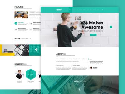 Agency Onepage Website