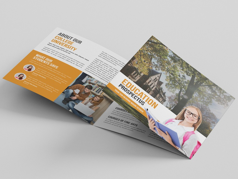education square trifold brochure by jabin hossain dribbble