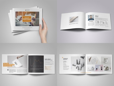 Portfolio Brochure Design typography portfolio card card flyer leaflet booklet catalog brochure portfolio site portfolio illustration branding vector icon logo ui ux webdesign bootstrap homepage design