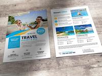Travel Resort Flyer Design