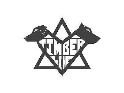Timberline Geometric typography custom type country black  white simple badge identity farm geometric logo