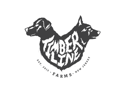 Timberline Shaggy typography custom type country black  white simple badge identity farm scribble logo
