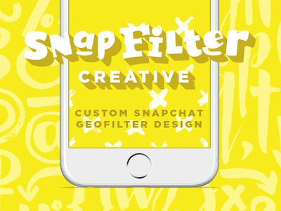 Snapfilter Creative small business side hustle new business geofilters branding logo snapchat