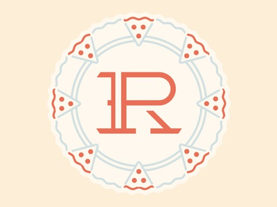 R-P monogram Pizza/Wheel Badge