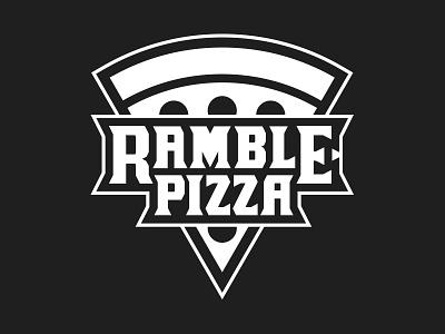 Ramble Pizza Truck Logo typography restaurant food truck pizza logo