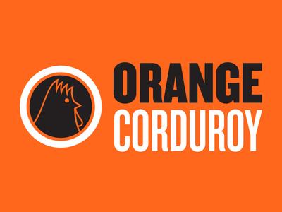 Orange Corduroy adobe illustrator logo design logo