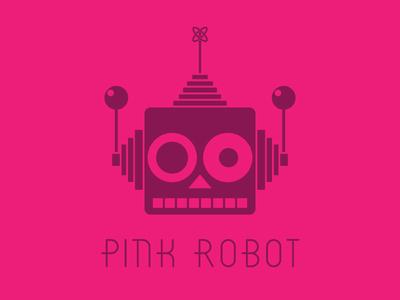 Pink Robot adobe illustrator logo design logo