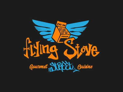 Flying Stove custom typography branding adobe illustrator logo design logo