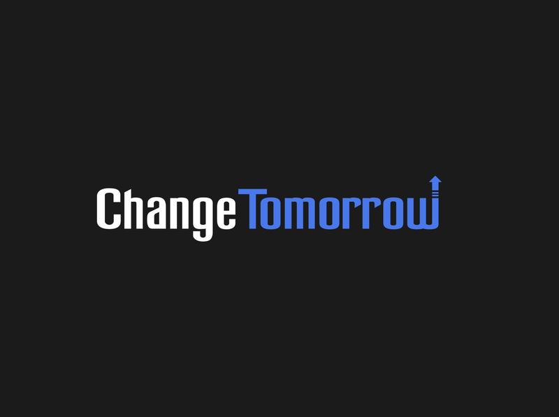 Change Tomorrow tomorrow change fundraising typography vector illustration ux ui logo design graphic design branding app