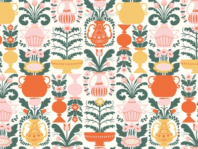 'Allmoge' repeat vector pattern