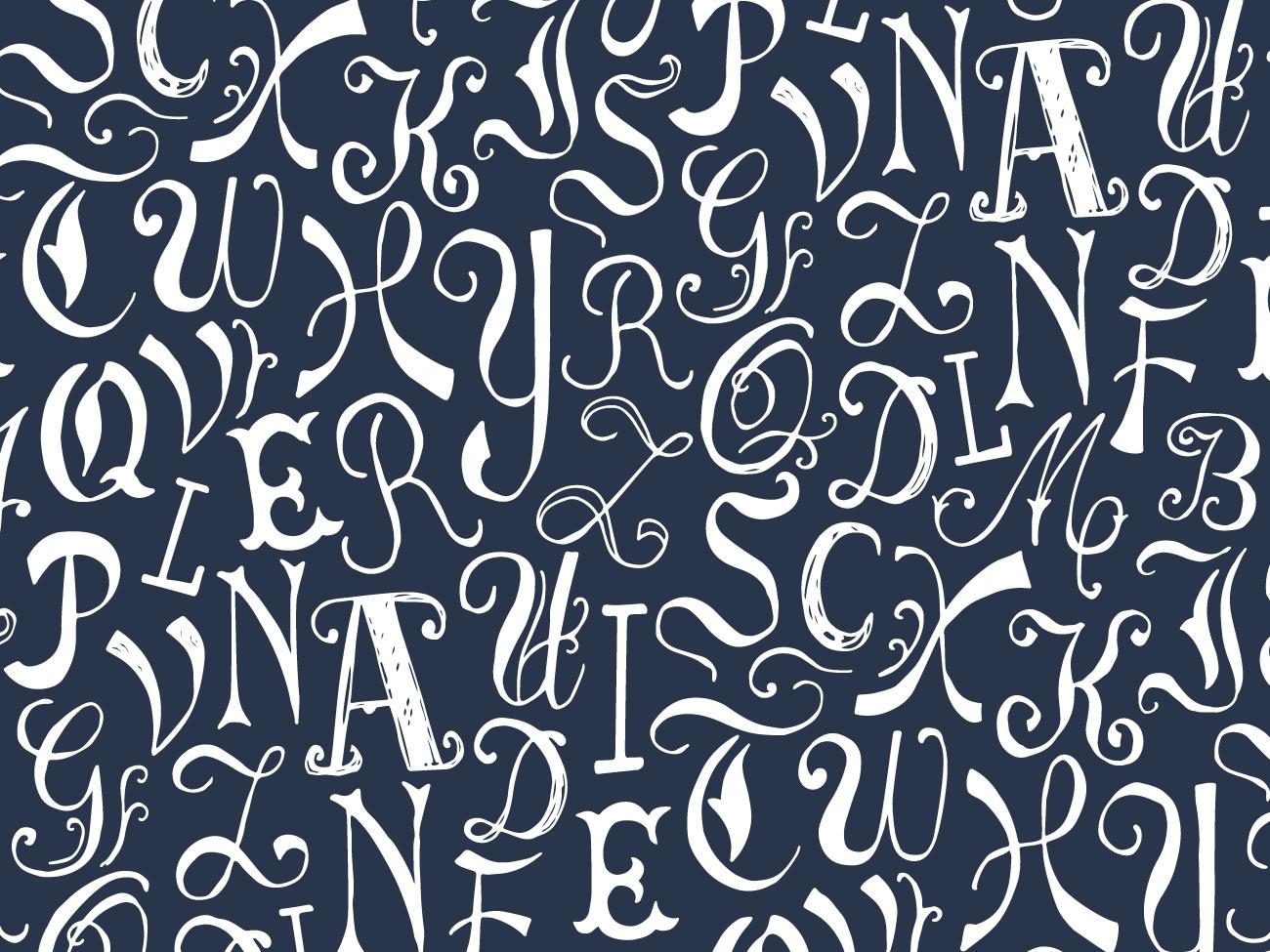 Alphabet pattern flat art calligraphy handlettering lettering art alphabets flat half drop flat design illustration vectorart repeat pattern letters pattern design pattern typography alphabet lettering vector digital art