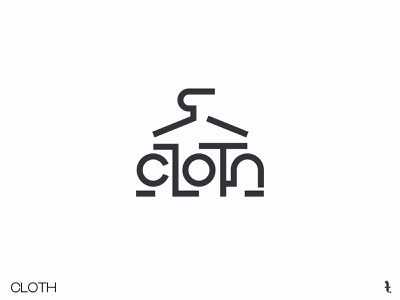 CLOTH | Day 28th | #dailylogochallenge minimal logo icon dailylogochallenge typography illustration project branding vector design