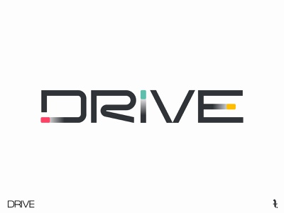 DRIVE | Day 29th | #dailylogochallenge flat colors branding logo dailylogochallenge typography project minimal vector design