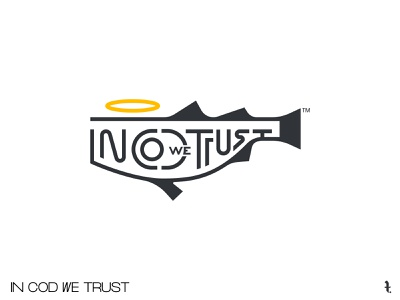 IN COD WE TRUST | Day 44th | #dailylogochallenge illustration picture vector lettering project logo branding dailylogochallenge minimal design typography