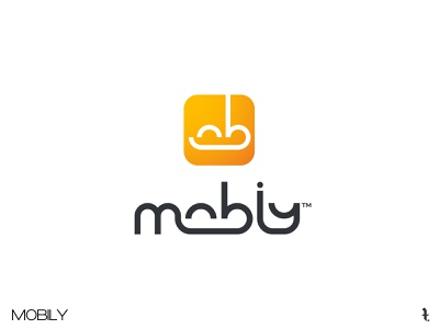 MOBILY | Day 48th | #dailylogochallenge icon logo branding dailylogochallenge typography flat minimal project vector design