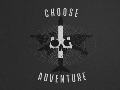 choose adventure black white