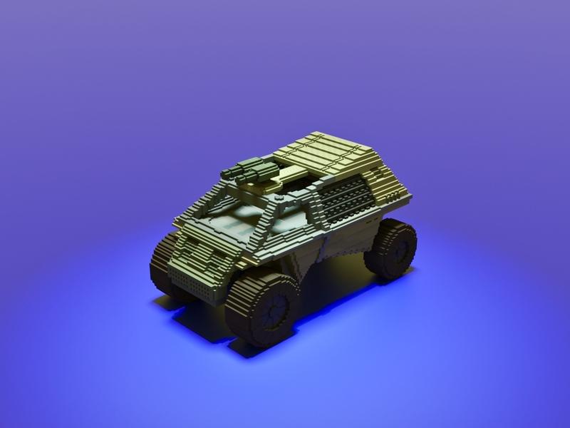 Jeep world war minecraft truck machine future attack fight war vehicle voxel art voxelart magicavoxel voxel illustration game art 3d art gamedesign game asset 3d