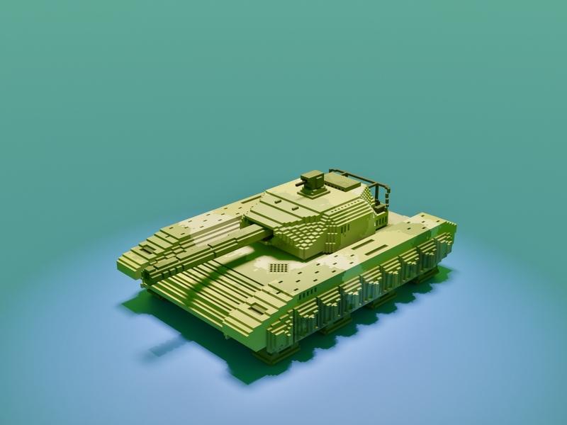 Tank army armour panzer warrior world war soldier military gun attack war voxel art voxelart magicavoxel voxel illustration game art 3d art gamedesign game asset 3d