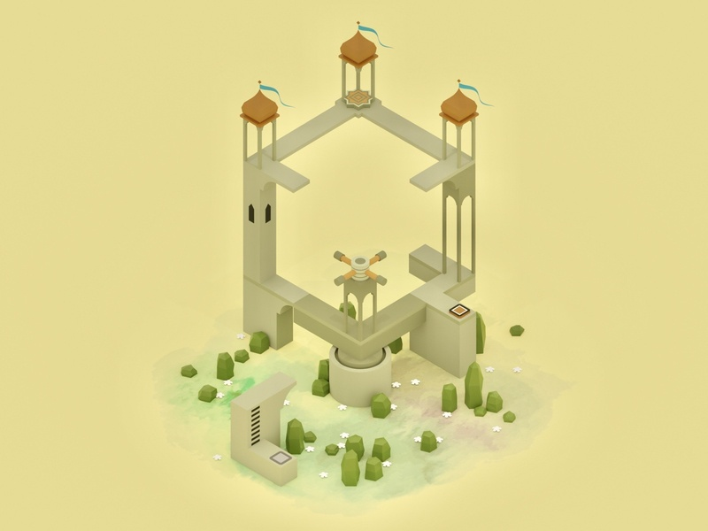 Monument Valley Fan Art lowpolygon lowpoly3d monumentvalley ustwo design lowpoly lowpolyart building blender3d blender illustration game art 3d art gamedesign game asset 3d