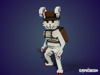 Evil Human Bunny minecraft sandbox easter egg villain animal easter rabbit nfts nft tsb design voxel illustration game art 3d art gamedesign game asset 3d