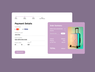 Daily UI :: 002 | Challenge #2 | Credit Card Checkout