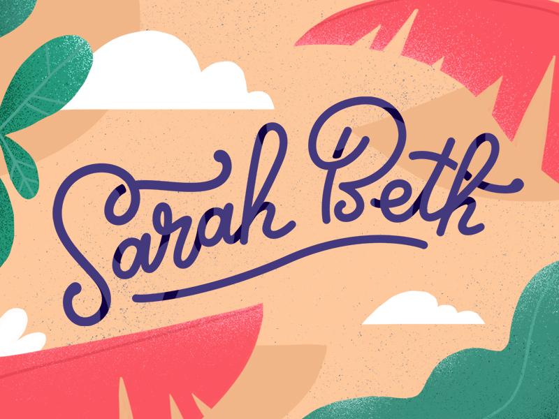 new logo! tropical plants typography bezier illustrator photoshop design logo vector illustration 2d