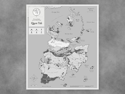 Quon Tali - Malazan Book of the Falller illustration fantasy map