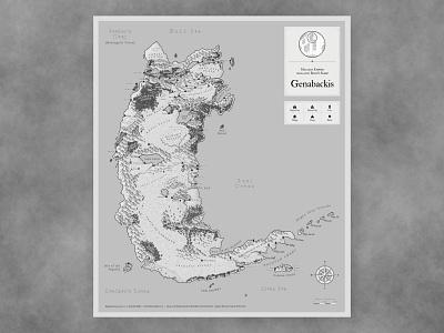 Malazan Gray Genabackis map fantasy
