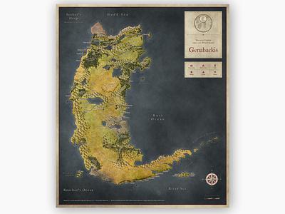 Genabackis fantasy cartography map