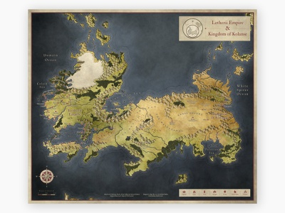 map promo lether color dribbble cartography map fantasy