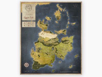 map promo quon tali color scaled cartography map fantasy